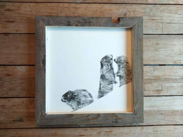 Holzbild Murmeltier schilderwerkstatt